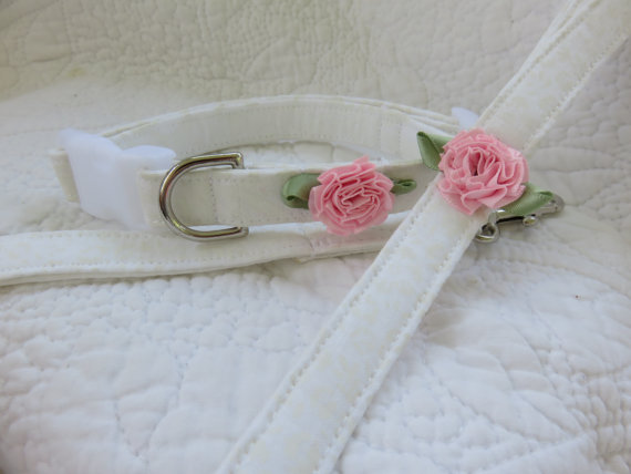 Свадьба - Wedding Collar and Leash  Gift Set  Dog Collar and Leash Set