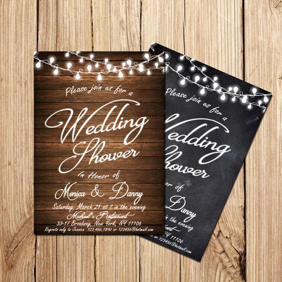 Mariage - Wedding Shower Invitation, Printable Wedding Shower Invitation,  Wedding Shower Invitation Vintage, Rustic Wedding Shower Invitation