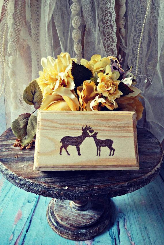 Свадьба - buck and doe-ring holder-ring bearer-wedding-cake topper-antlers-ring box-hunting themed-ring pillow-rack-horns-bride and groom-hunter groom