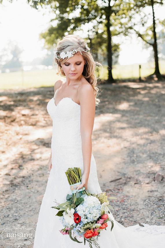 Wedding Headband Bridal Flower Hair Accessories Headpiece Head Wreath