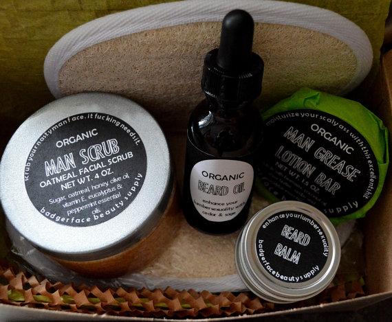 Hochzeit - Beard Care Gift Set. Gift for Him. Boyfriend Gift. Funny Gift for Him. Beard Balm. Beard Oil. Groomsmen Gift. Gift for Boyfriend.