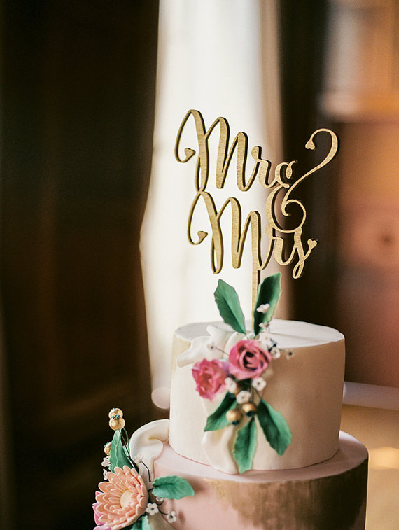 Laser Cut Wedding Cake Toppers