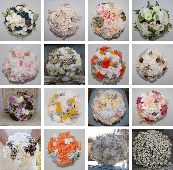 Mariage - Custom Bouquets - Dried & Preserved Flowers