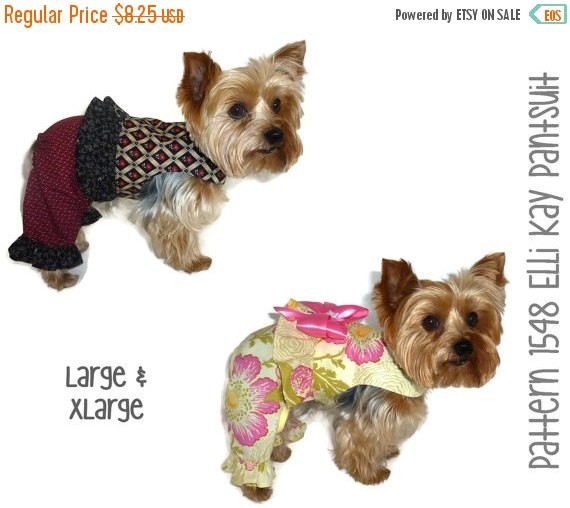 Свадьба - ON SALE Elli Kay Dog Suit Pattern 1548 * Large & XLarge * Dog Clothes Sewing Pattern * Dog Onesie * Dog Pants Pattern * Dog Outfits * Dog Ap
