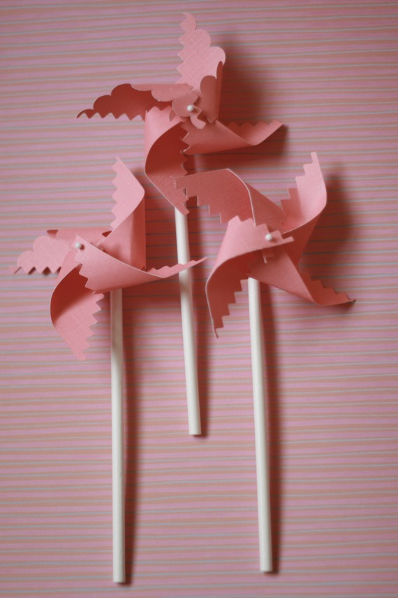 Hochzeit - Pink Pinwheels Favors 12 Mini (custom orders welcomed)