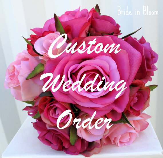 Hochzeit - Reserved deposit for - Jenny Galamaga - Red orange brown, calla orchid Autumn wedding bouquet set