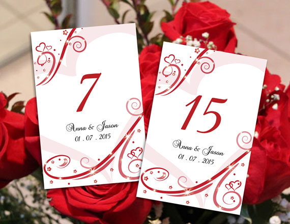 Diy Printable Wedding Table Number Template
