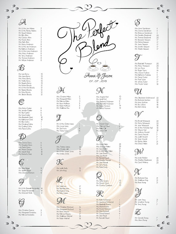 diy printable wedding or bridal shower single seating chart template 2355349 weddbook. Black Bedroom Furniture Sets. Home Design Ideas