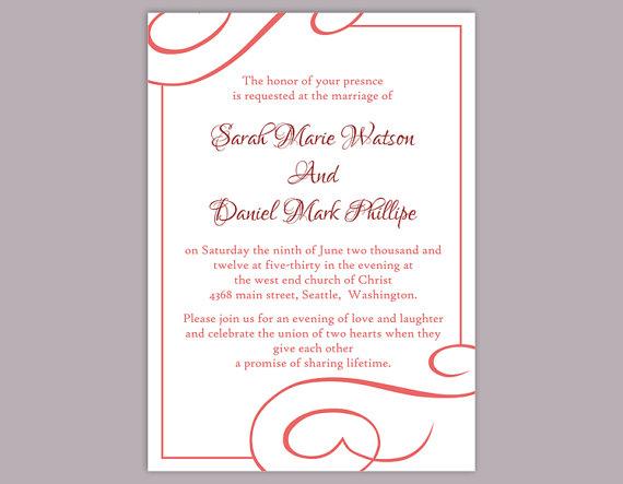 diy wedding invitation template editable text word file download