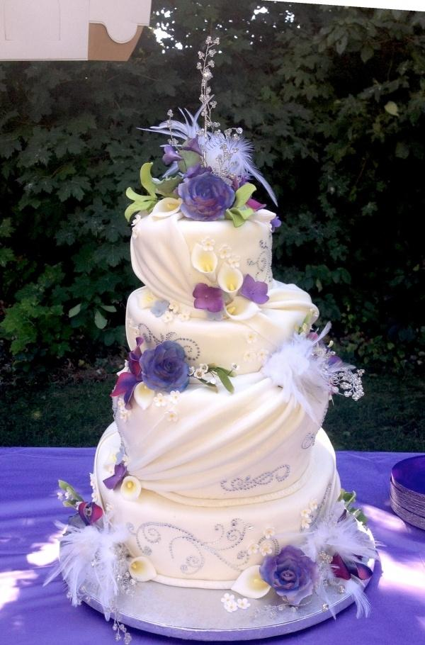 Purple Topsy — Whimsical / Topsy-Turvy Cakes #2355813 - Weddbook