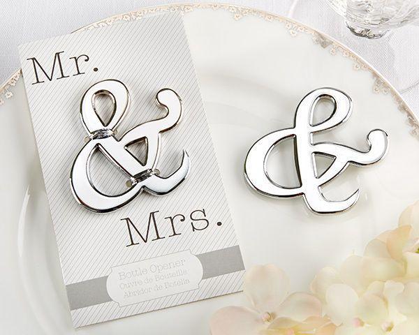 Wedding - 96 Ampersand Mr And Mrs Bottle Opener Wedding Favors