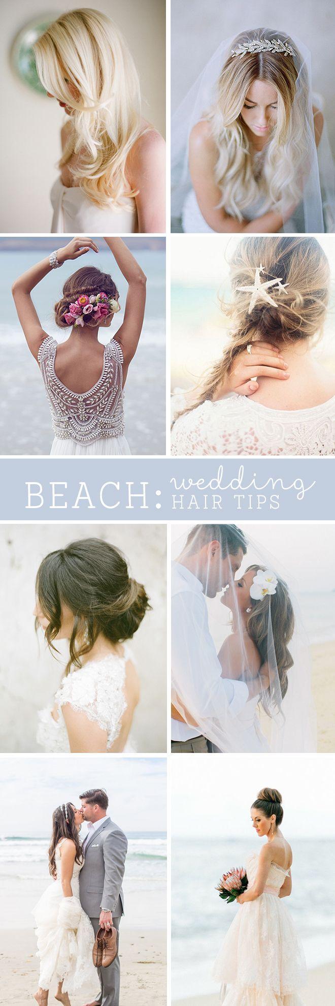 Hochzeit - The BEST Beach Wedding Hair Tips!