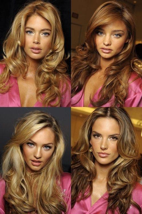 Свадьба - Get The Look: Glossy, Bouncy Victoria Secret Waves