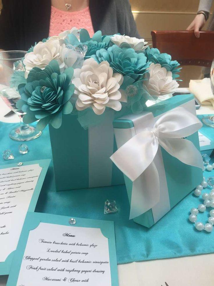 tiffany themed bridalwedding shower party ideas