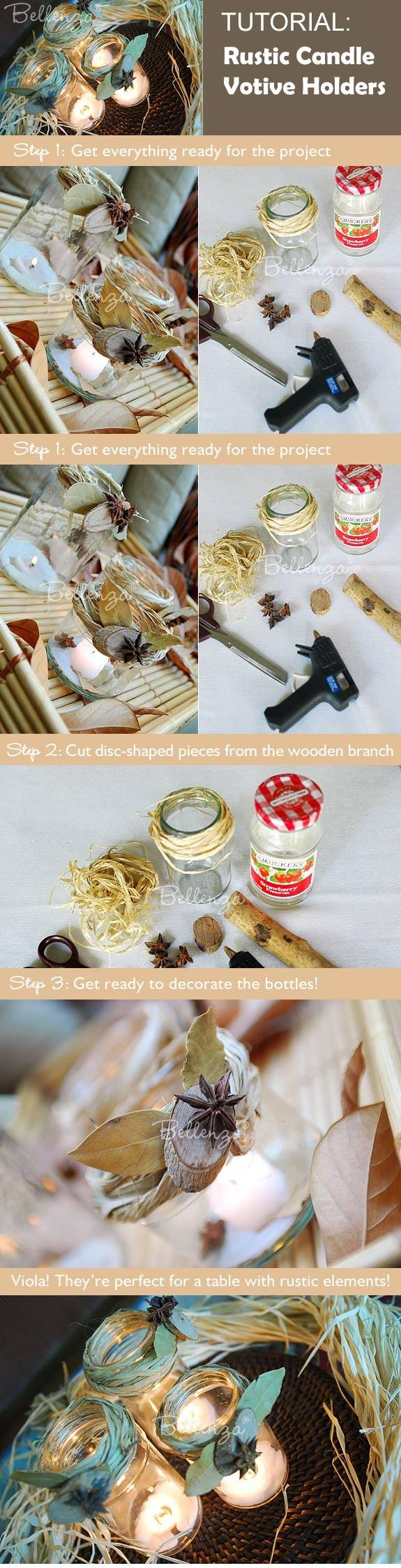 Свадьба - A Candle Votive Project For A Rustic-Inspired Wedding