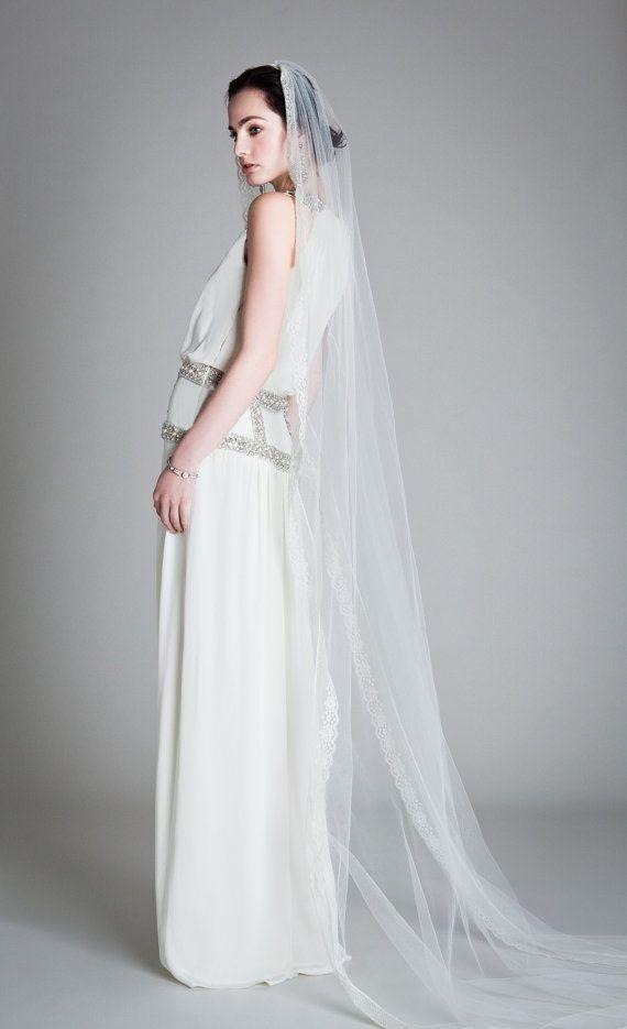 زفاف - Esme Veil, Our Loveyoubride Ivory Esme Veil With Pretty Lace Edge