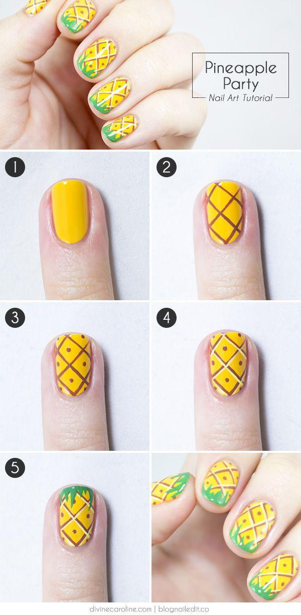 Summer Nails! Pineapple Party Nail Art - Wedding Theme - Summer Nails! Pineapple Party Nail Art #2356668