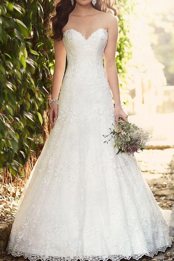 Hochzeit - Classic Lace Wedding Dress By Essense Of Australia