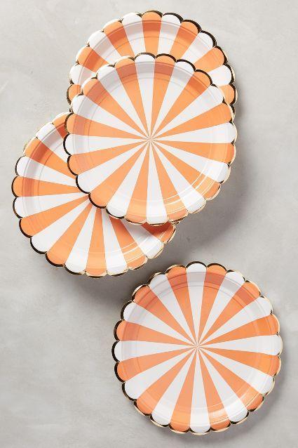 Свадьба - Carnival Stripe Plates