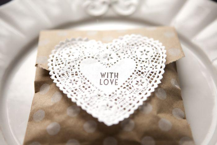 Mariage - Set Of 20 Polka Dot Kraft Goody Bags