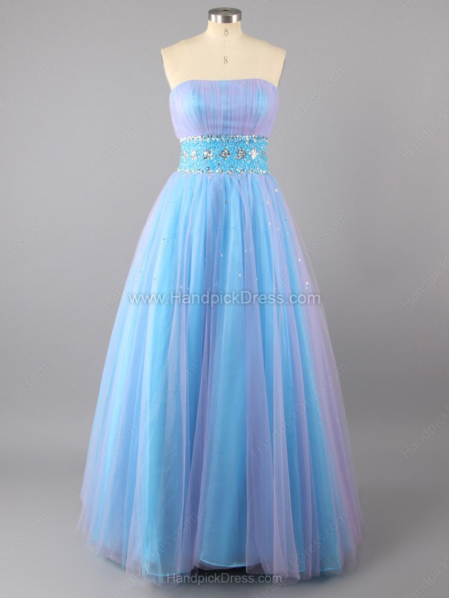 Wedding - Ball Gown Strapless Organza Beading Floor-length Prom Dresses