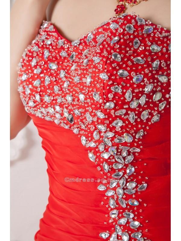 Wedding - Charming Mermaid Sweetheart Ankle-length Organza Beading Homcoming DressSKU: STM0077-Y
