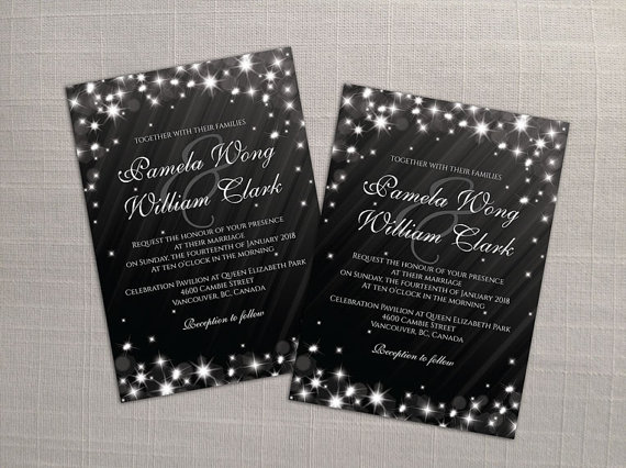 Wedding Invitation Card Download: DIY Printable Wedding Invitation Card Template #2357708