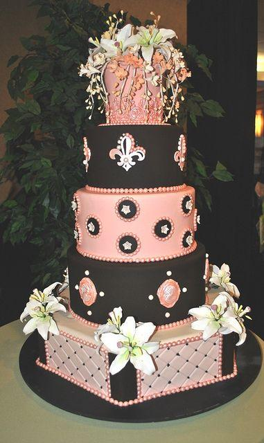Wedding - Wedding Cakes, Pink. Indian Weddings Magazine