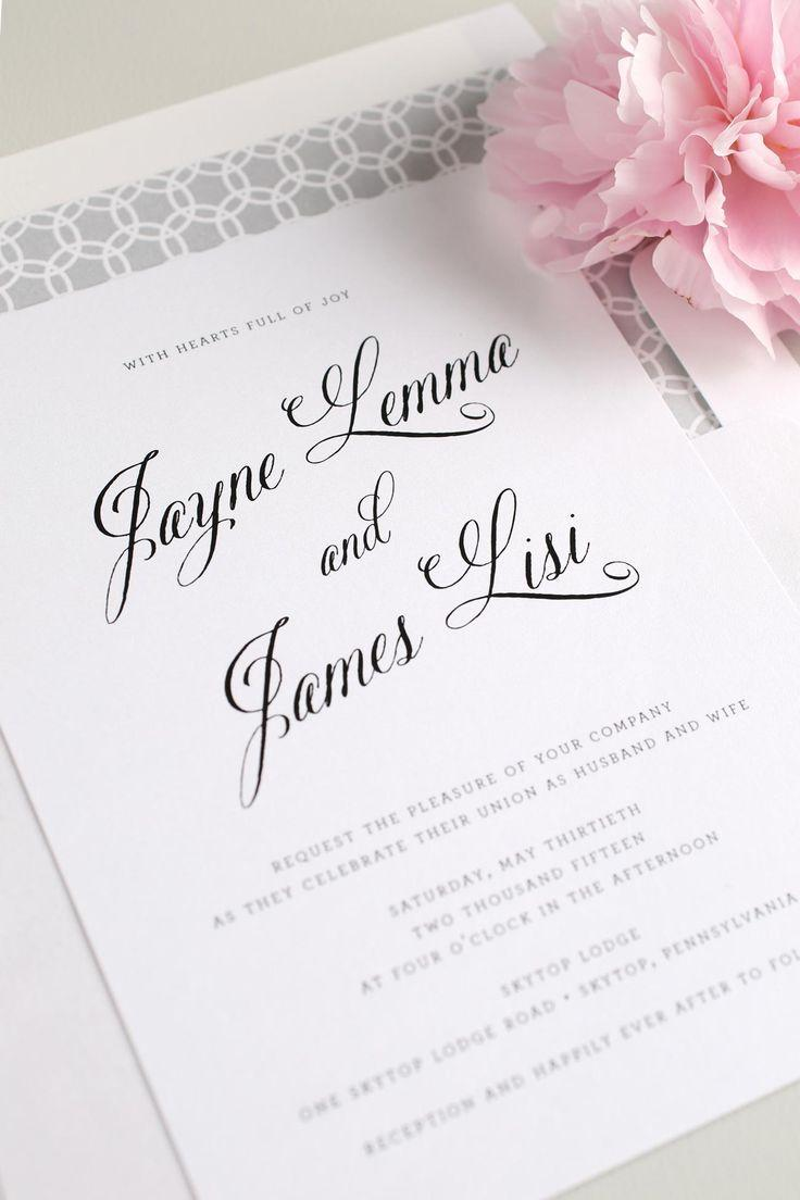 Wedding - Rustic   Modern Wedding Invitations In Blush   Gray