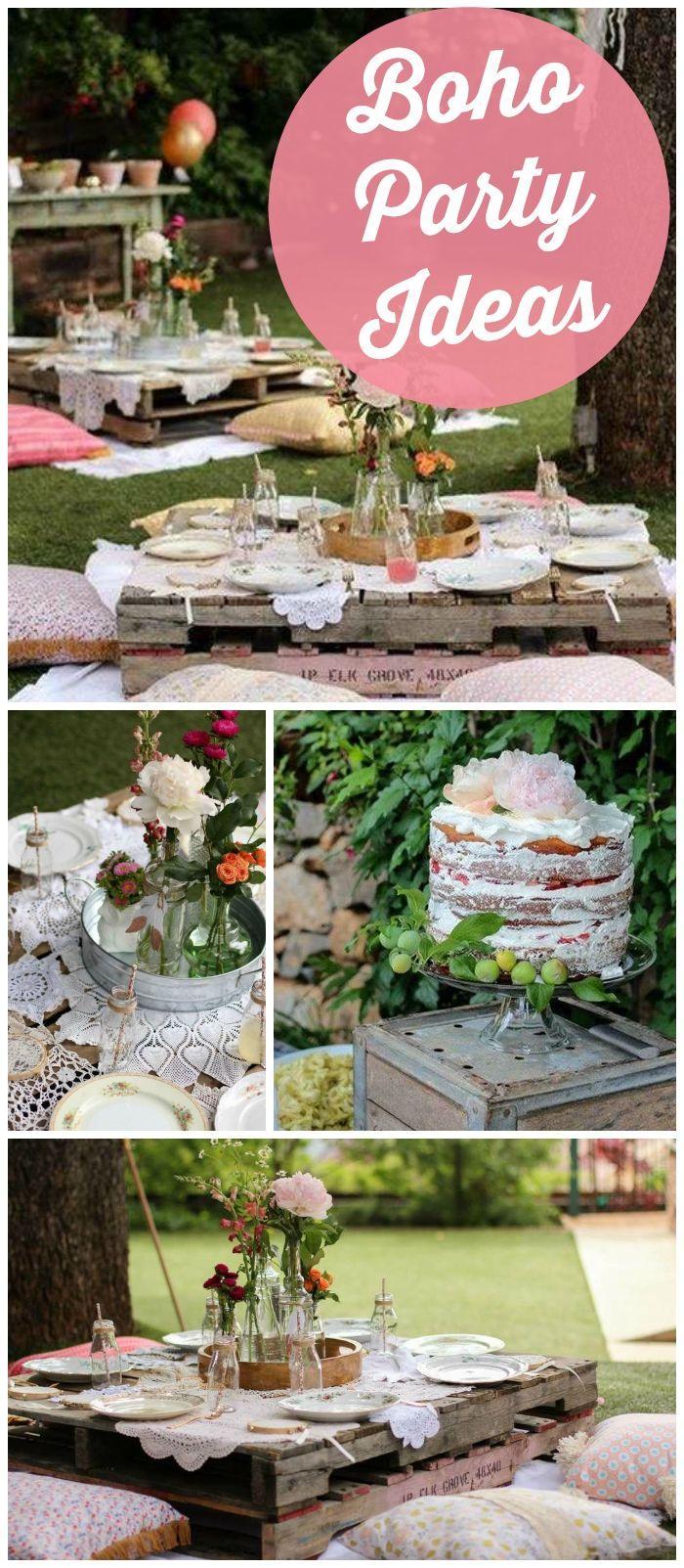 Boho garden party birthday charlotte 39 s 7th boho party for Decoration ideas 7th birthday party