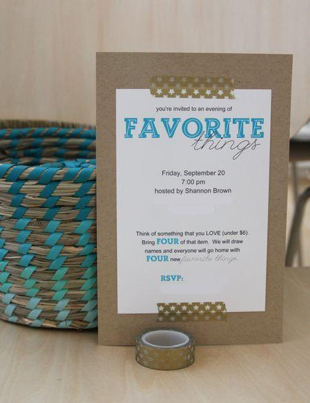 Hochzeit - Find Joy In The Journey: Favorite Things Party #2