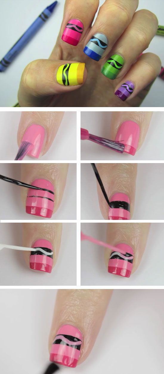 Nail - 22 DIY Back To School Nails For Kids #2358781 - Weddbook