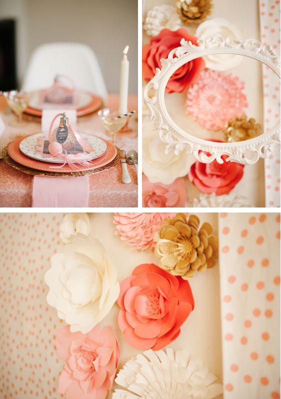 Wedding Theme Paper Flower Wall Decor 2358783 Weddbook