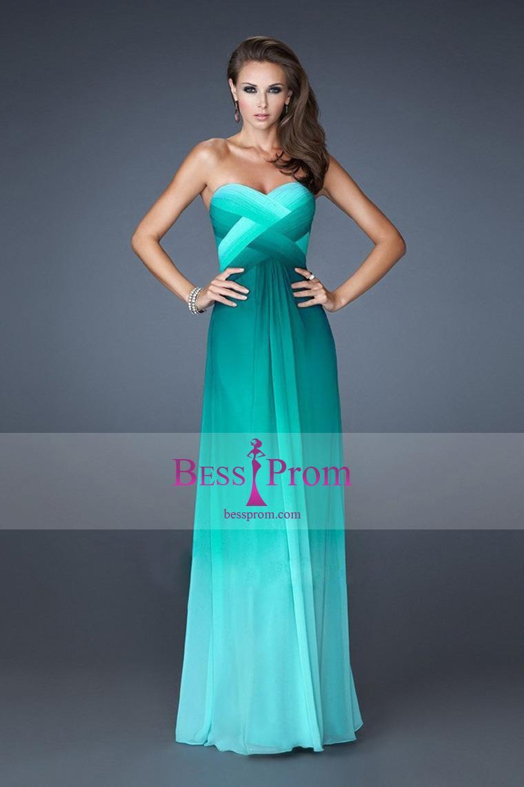Hochzeit - a-line colorful long sweetheart 2015 prom dress - bessprom.com