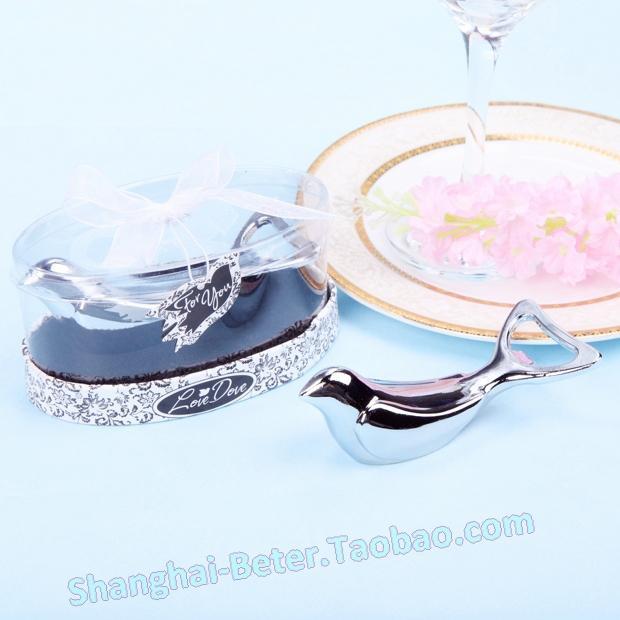 Wedding - Acheter 36 boîte de l'amour argent Dove Chrome ouvre bouteille WJ045 Festive et réceptions de connecteur d'alimentation fiable fournisseurs sur Shanghai Beter Gifts Co., Ltd.