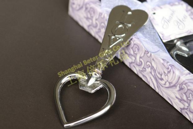 Wedding - Acheter 50 boîte amour et coeurs ouvre bouteille boutique de mariage Souvenir WJ023 / B de souvenirs de la police fiable fournisseurs sur Shanghai Beter Gifts Co., Ltd.