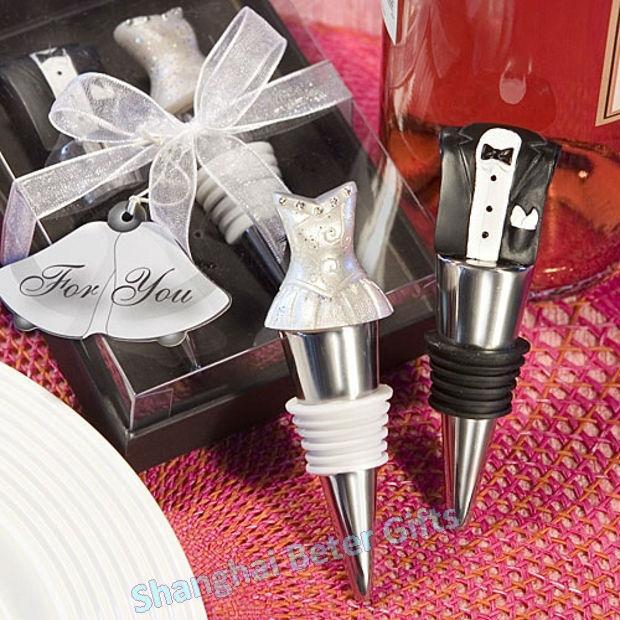 Wedding - Acheter 48 pcs = 24 par mariée et le marié faveur de mariage vin mis WJ107 # BeterWedding de bouteille de vin jeu d'accessoires fiable fournisseurs sur Shanghai Beter Gifts Co., Ltd.