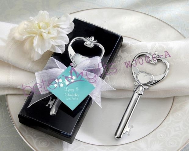 """Mariage - Acheter 50 boîte clé de mon coeur """" victorienne décapsuleur WJ006 / un cadeau de promotion, Souvenir de mariage de boîte de cadeau avec la fenêtre de PVC fiable fournisseurs sur Shanghai Beter Gifts Co., Ltd."""