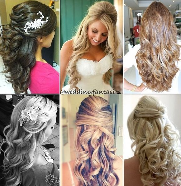 Wedding - Hair Styles- Half Up, Half Down