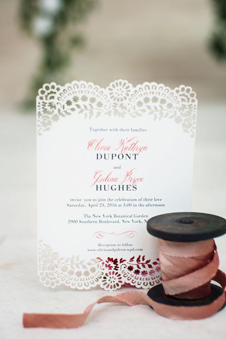 Classic Devotion - Signature Laser Cut Wedding Invitations In Sea ...