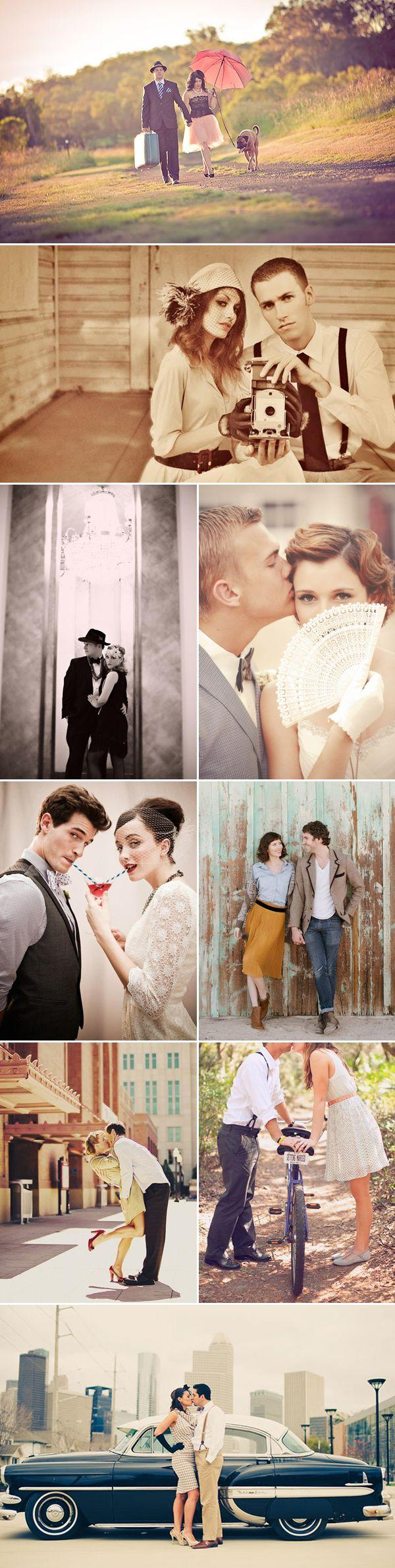 Mariage - 26 Beautiful Vintage-Inspired Engagement Photos