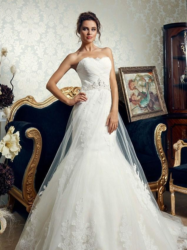 2015 New Arrival Daria Karlozi Mermaid Wedding Dresses Strapless ...