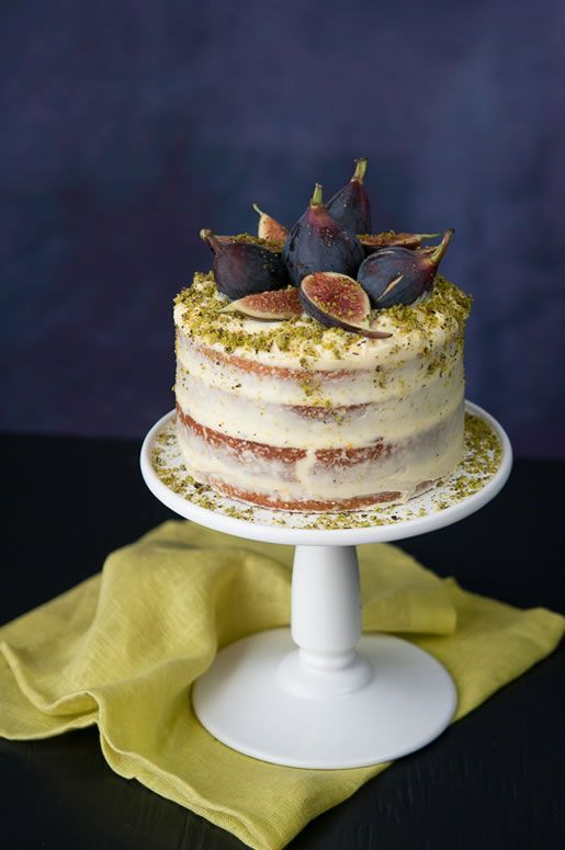 Mariage - Happy Nut Thing – Fig Pistachio Cake W Orange Cream Frosting...