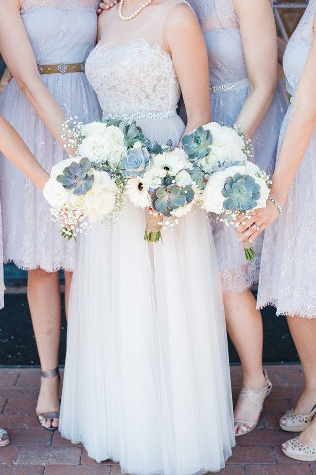 Wedding - Lavender Sky Blue And Gray Modern Episcopal Wedding