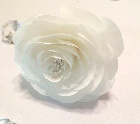 Paper Camellia Wedding Cake Camellias White Coffee Filter Camellia