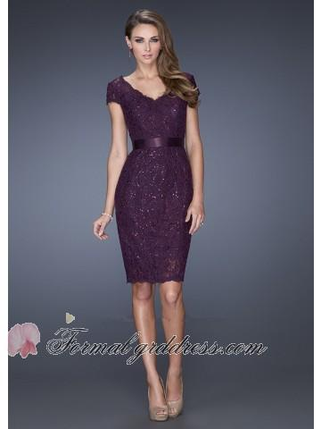 Elegant Short Formal Dresses with Sleeves