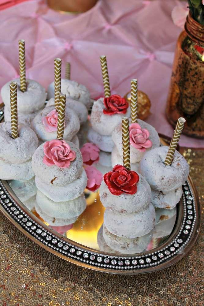 Gold And Pink Baby Shower Party Ideas
