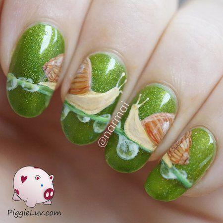Wedding - Snails In Love Nail Art