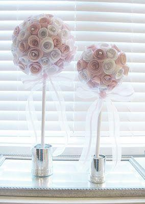 Wedding - Life: Designed: DIY Paper Rose Topiaries