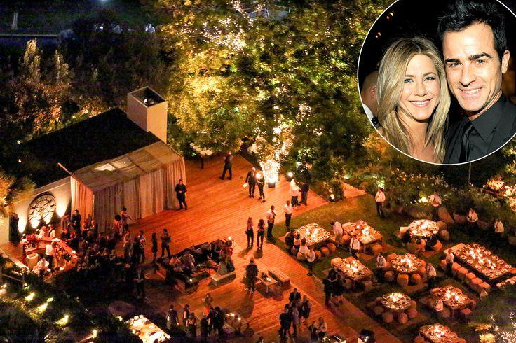 Jennifer Aniston And Justin Theroux Wedding.Jennifer Aniston Justin Theroux Wed At Home See The Aerial